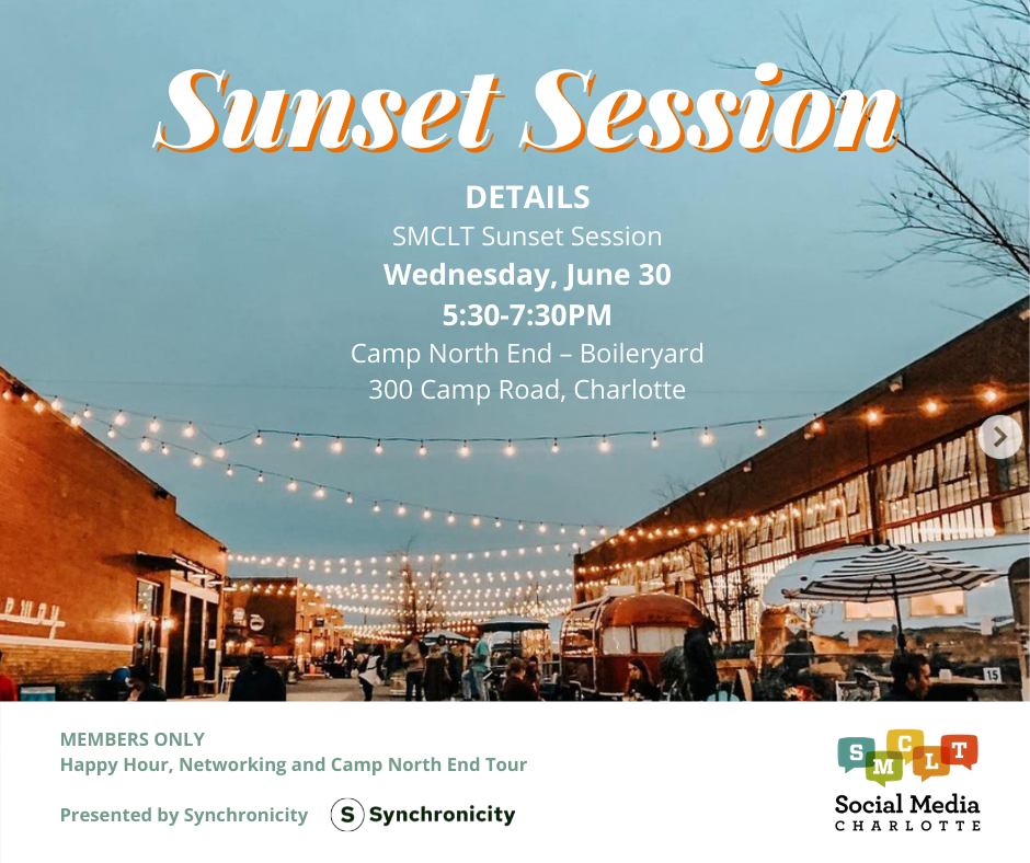 SMCLT Members Only Sunset Session Event - June 30, 2021 at Camp North End.